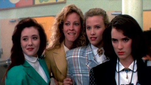 Heathers (1988)  Dir: Michael Lehmann Stars: Winona Ryder, Christian Slater, Shannen Doherty, Lisanne Falk  Veronica (Winona Ryder) is part of the most popular clique at her high school, but she disapproves of the other girls' cruel behavior. When Veronica and her new boyfriend, J.D. (Christian Slater), confront clique leader Heather Chandler (Kim Walker) and accidentally poison her, they make it appear a suicide.  Watch here for free : http://www.primewire.ag/watch-5381-Heathers-online-free