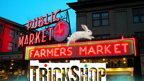 "Filming short film ""TrickShop"" in Seattle Pike Place Market."