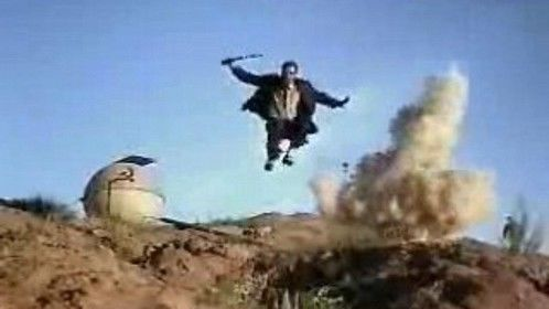 Six-String Samurai (1998)  Dir: Lance Mungia Stars: Jeffrey Falcon, Justin McGuire, Kim De Angelo, Stephane Gauger  In the post-apocalyptic world of 1960s Nevada, a rock 'n' roll samurai takes a young boy under his protection.  Watch here for free: http://www.primewire.ag/watch-22341-Six-String-Samurai-online-free