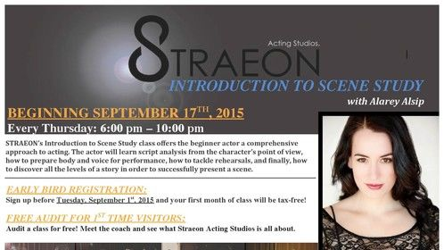 Introducing a new class to our Montreal Branch at Straeon Acting Studios: INTRODUCTION TO SCENE STUDY begins Thursday, September 17th. Sign up TODAY and have your first month be tax-free!   #straeon #scenestudy #montrealactors #montrealactingclasses #montrealactingstudio #introtoscenestudy #storytellers less