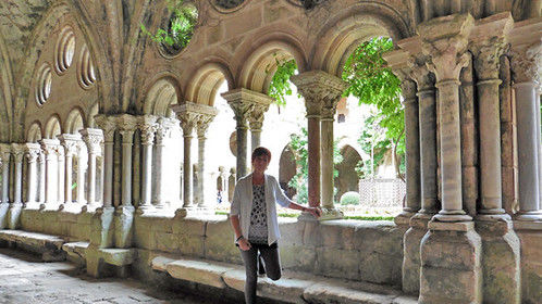 Photo shoot at Fontfroide Abbey, southern France. www.jeannedaout.com