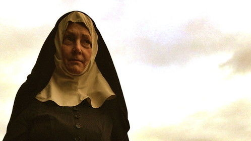 "I'm  a spooky demon-chasing nun in ""The Chosen""  which premiered at VidCon and sold out simultaneous screenings all over the US.  Coolest thing is that this is the last shot of the film!"