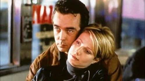 Sliding Doors (1998)  Dir: Peter Howitt Stars: Gwyneth Paltrow, John Hannah, John Lynch, Jeanne Tripplehorn  A London woman's love life and career both hinge, unknown to her, on whether or not she catches a train. We see it both ways, in parallel.  Watch here: http://www.primewire.ag/watch-6597-Sliding-Doors-online-free