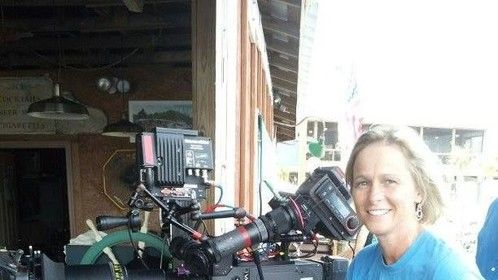 Just wanted to sit next to the camera on the set of Safe Haven - lol