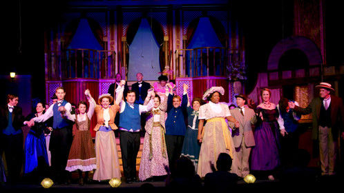 Final bows of the ensemble of Hello Dolly at Bay Street (2015.)