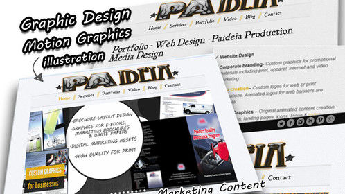Promo: some of my graphic or marketing services. More information available on my website.