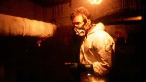 Session 9 (2001)  Dir: Brad Anderson Stars: David Caruso, Stephen Gevedon, Paul Guilfoyle, Josh Lucas  Tensions rise within an asbestos cleaning crew as they work in an abandoned mental hospital with a horrific past that seems to be coming back.  Click here to watch: http://www.primewire.ag/watch-4398-Session-9-online-free