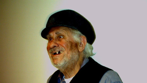 BoB Barr as the Old Drunk in Russian play, BLACK MILK, at The Studio Theatre, Washington  DC