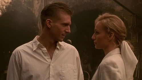 The English Patient (1996)   Dir: Anthony Minghella Stars: Ralph Fiennes, Juliette Binoche, Willem Dafoe, Kristin Scott Thomas  At the close of WWII, a young nurse tends to a badly-burned plane crash victim. His past is shown in flashbacks, revealing an involvement in a fateful love affair.   Click here: http://www.watchfree.to/watch-bd4-The-English-Patient-movie-online-free-putlocker.html
