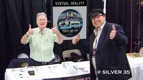 HAVING FUN WITH THE VR DRIVEIN! See Mike and John at Comic Con  2015  Salt Lake City 801 462 1656   801 385 8076