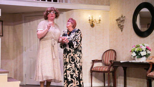 "Me as ""Stephanie"" with Mary Wilson as ""Aunt Florence"" in ""Leading Ladies"""