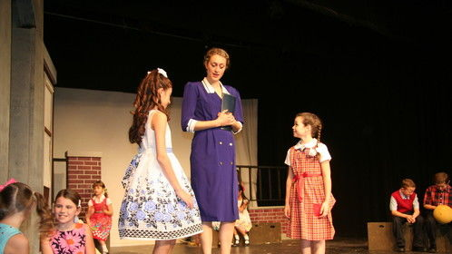 """Miss Mason in Kaleidoscope Theater for Youth's production of """"The Hundred Dresses."""" 2014"""