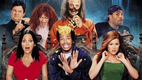 Scary Movie (2000)  Dir: Keenen Ivory Wayans Stars: Anna Faris, Jon Abrahams, Marlon Wayans  A year after disposing the body of a man they accidently killed, a group of dumb teenagers are stalked by a bumbling serial killer.  Click here to watch: http://www.primewire.ag/watch-1580-Scary-Movie-online-free
