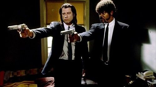 Pulp Fiction (1994)  Dir: Quentin Tarantino Stars: John Travolta, Uma Thurman, Samuel L. Jackson, Bruce Willis  The lives of two mob hit men, a boxer, a gangster's wife, and a pair of diner bandits intertwine in four tales of violence and redemption.  Watch it here: http://www.watchfree.to/watch-301-Pulp-Fiction-movie-online-free-putlocker.html