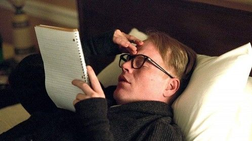 Capote (2005)  Dir: Bennett Miller Stars: Phillip Seymour Hoffman, Clifton Collins Jr., Catherine Keener, Allie Mickelson  In 1959, Truman Capote learns of the murder of a Kansas family and decides to write a book about the case. While researching for his novel In Cold Blood, Capote forms a relationship with one of the killers, Perry Smith, who is on death row.   Click here to watch movie: https://www.primewire.ag/watch-5422-Capote-online-free