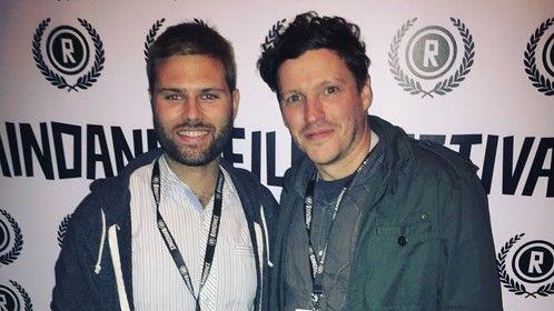 My pal Stuart Valberg at Raindance Film Festival in London