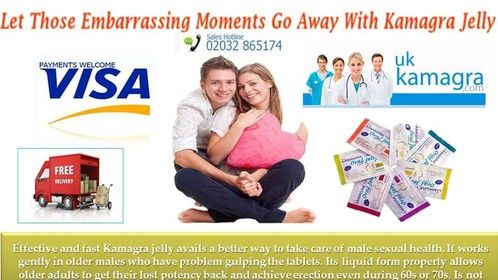 """<a href=""""https://www.ukkamagra.com/kamagrajelly.htm"""">Kamagra jelly</a> is as effective as Kamagra tablets, it starts working in male body just in 20 minutes because of its active component called Sildenafil citrate. Buy this Sildenafil jelly online from UKKamagra. Visit https://www.ukkamagra.com/kamagrajelly.htm"""