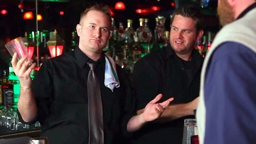 """Playing the jerk manager in Generation Awesome's web series """"The Bartender Hates You"""""""