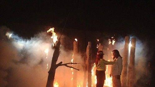Fire Ripples Short Forest scene