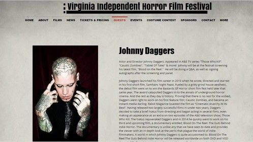 Guest Announcement of VA Indie Horror Page