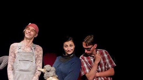 Produktion: Inklusionsgefahr mit (v.l.) Martin Söchting (Micha, der ewige Hippie), Sahar Raie (Manna, die Braut, die sich was im Leben traut), André Dinter (EDD - the brain)