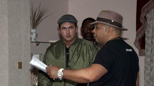Director Robby Haynes on set of Fighting Talk