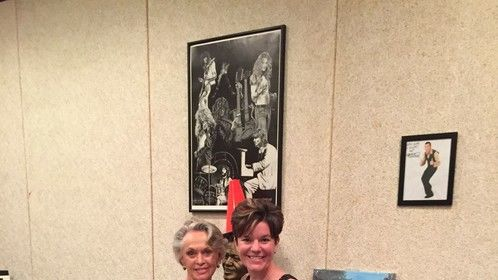 Producer Kelly O'Neil with Tippi Hedren (The Birds, Marnie) in Valencia.