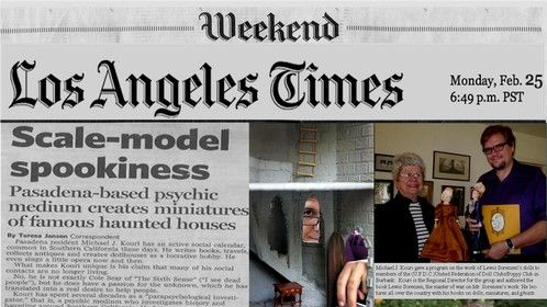 Article showcasing my work as a miniaturist in the Los Angeles Times.