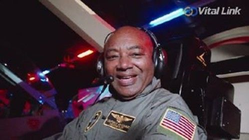 Cliff Wright as the spokes person in Flight Deck F16 Simulator for non-profit, Vital Link  Recognition Celebration Video.