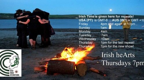 If you work in the arts, and have a relationship to Ireland, or Irish people, or want to create a relationship, then we want to hear from you, while we are preparing our radio shows from England and Norway. Come on the show and talk about theatre, film, music, performance art, visual art, or anything else creative that you think we should know about. Perhaps you would like to perform an excerpt of your work, or apply for the band of the week slot.  Email your interest/questions, to Yvonne at  E: rsvpireland@gmail.com  Irish Radio International will be recording their weekly arts show, Irish heArts, presented by Yvonne Coughlan of RSVP ( www.rsvpireland.webs.com) in:  â