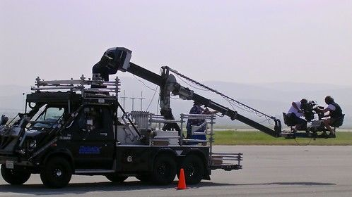 Shotmaker Elite in action at the old Marine Corp Air Station El Toro. Shooting a high adrenaline job for Mitsubishi Motors USA.