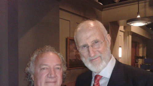 """On set with James Cromwell, """"Murder in the First"""""""