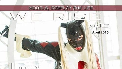 My first cover!!  We Rise Cosplay Culture - Latex Edition!