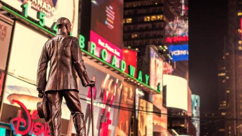 Looking down Broadway.