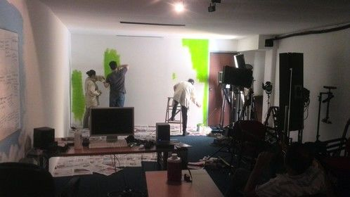Painting the Chroma studio at School