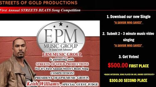 Deadline is January 22, 2016 www.streetsofgoldproductions.org