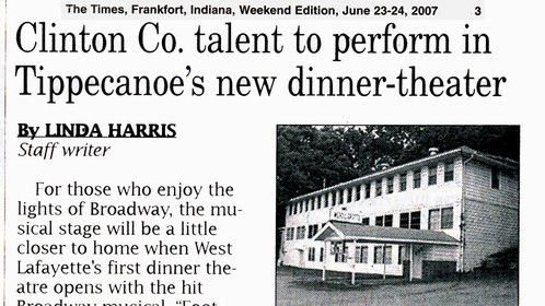 Footloose -Times Article 6/23/07 Michael J. Peterson in the role of Reverend Moor - Footloose the Musical - Tippecanoe County Players