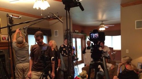 Behind the scenes - discussing the shot
