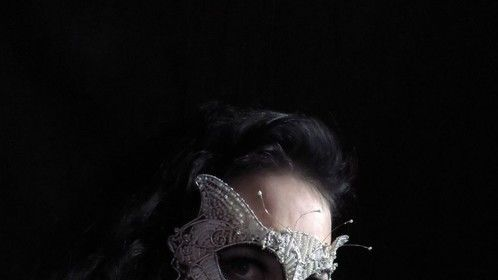 Our white cat masquerade mask