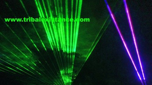 High Power Laser Light Show Special Effects Lighting Design by Tribal Existance Productions Worldwide