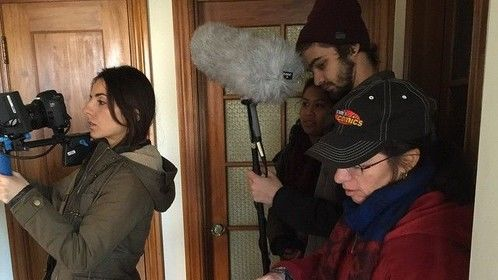 On set as Script Supervisor and UPM for Frisky, January 2015.
