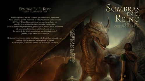 Paperback cover for the Spanish version of Shadows of the Realm - Sombras en el reino.