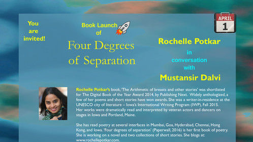 My first book of poetry, ''Four degrees of Separation'' available at Paperwall.in