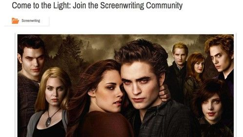 Come to the Light: Join the Screenwriting Community