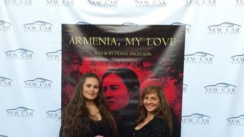 On The Red Carpet for the premier of Armenia, My Love with writer/director/producer/star, Diana Angleson.