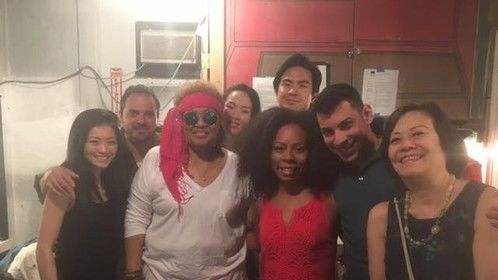 Cast of Wild Child, the second workshop production of the 3rd play of my trilogy  Women You Thought You Knew yesterday 4/24/16 at Kraine Theatre, NYC.