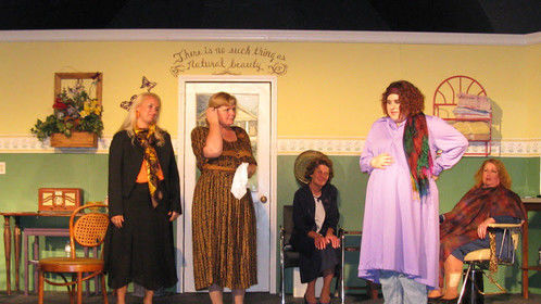 "The cast of the Slightly Off-Broadway Players' ""Steel Magnolias"""
