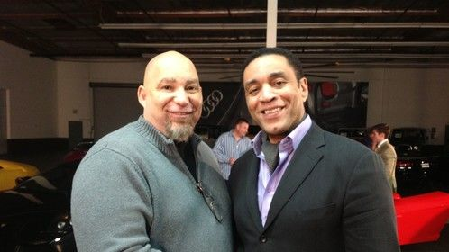 With the great Harry Lennix on set for my film Sunny and RayRay