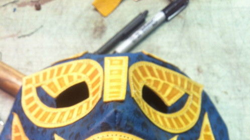 Luchador mask for the TV series Heroes Reborn
