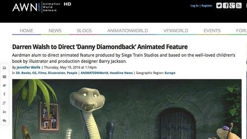 Barry Jackson's Danny Diamondback movie is for real.